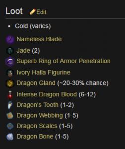 Abyssal High Dragon Loot