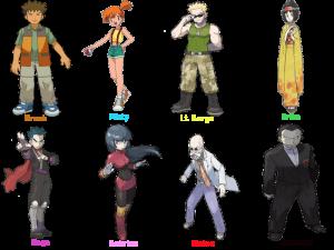 pokemon gym leaders 1st gen