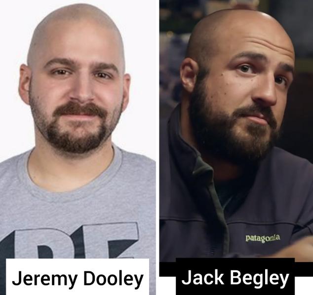 jack begley looks like jeremy dooley