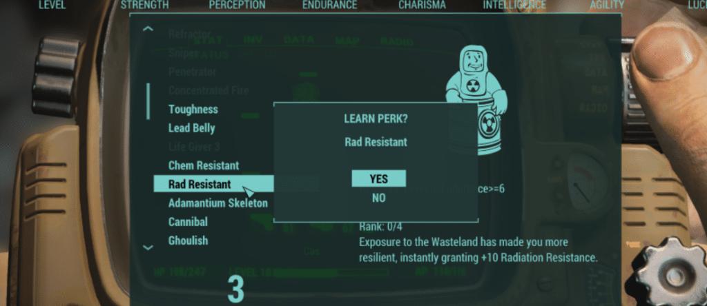 level up menu ex