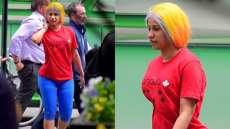 cardi b yellow wig